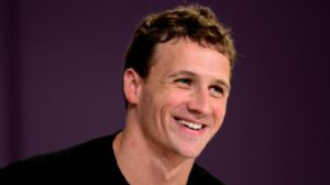 USA swimmer Ryan Lochte during a press conference following the men's 200m backstroke final during the London 2012 Olympic Games at Main Press Center.