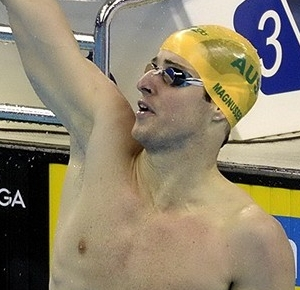 James Magnussen (AUS) celebrates after winning the men's 100m freestyle final at the 14th FINA World Championships.