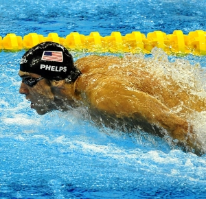 Shanghai, CHINA; Michael Phelps (USA) during the 14th FINA World Championships.
