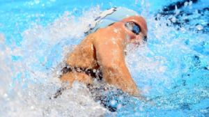 Danielle Siverling competes in the womens 200m freestyle preliminaries in the 2012 U.S. Olympic swimming team trials at the CenturyLink Center.