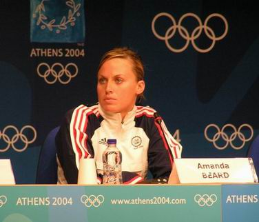 Amanda Beard pre/Olympic Press Conference