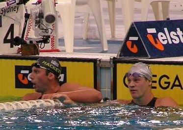 Hackett and MacGillivary - finish 800 free Aust Champs 05