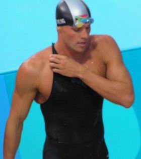 Ryk Neethling after 100m free final Athens 04