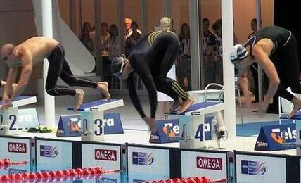 callus, thorpe, sullivan start 100m free final Aust Champs 2006