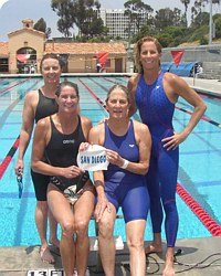 SDSM Relay 2003, women's record breakers on deck