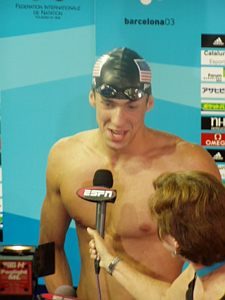 Michael Phelps interviewed at 2003 Worlds