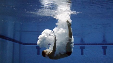 Jun 24, 2012; Federal Way, WA, USA; Christopher Colwill competes in the the 3-meter springboard in U.S. Olympic Diving Team Trials at the Weyerhaeuser King County Aquatic Center. Mandatory Credit: Joe Nicholson-US PRESSWIRE