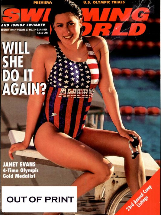 Swimming World Magazine February 1996 Issue- PDF ONLY - Cover