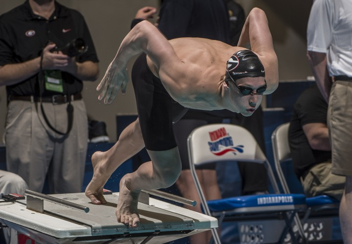 Chase Kalisz Returns To Race Pool To Help Georgia Defeat Tennessee Swimming World News