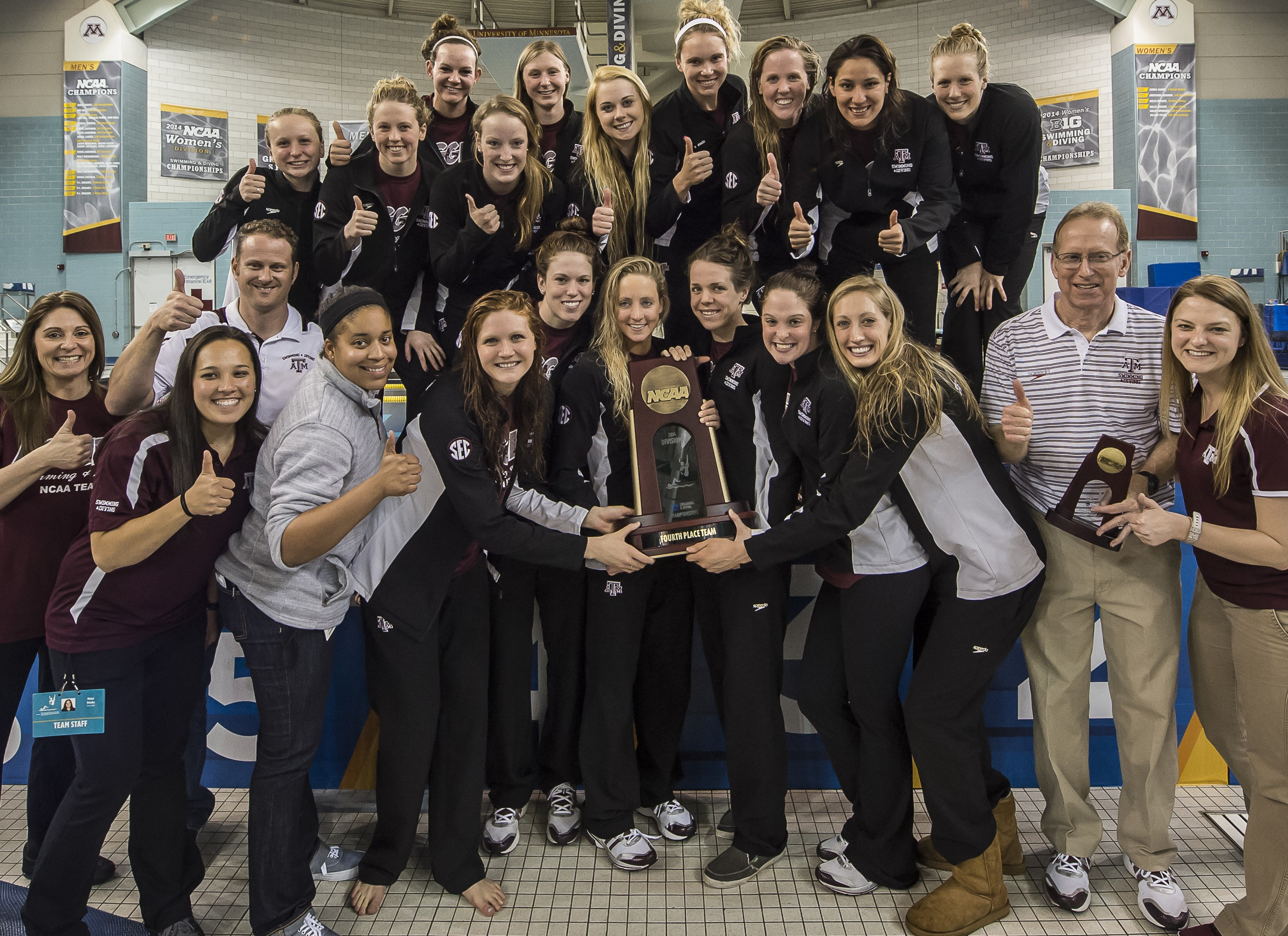 Texas A M Wncaa 2014 3713 Swimming World News