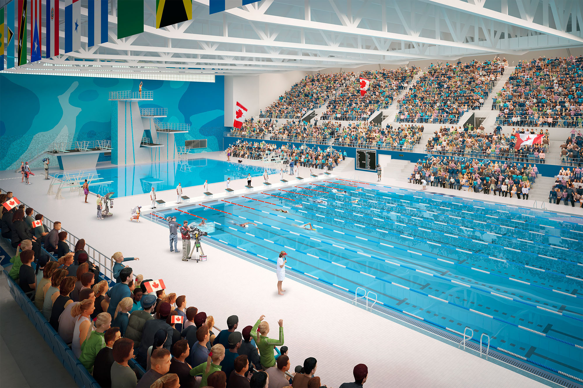 Toronto pan am sports centre to host 2016 canadian olympic for Pool show toronto