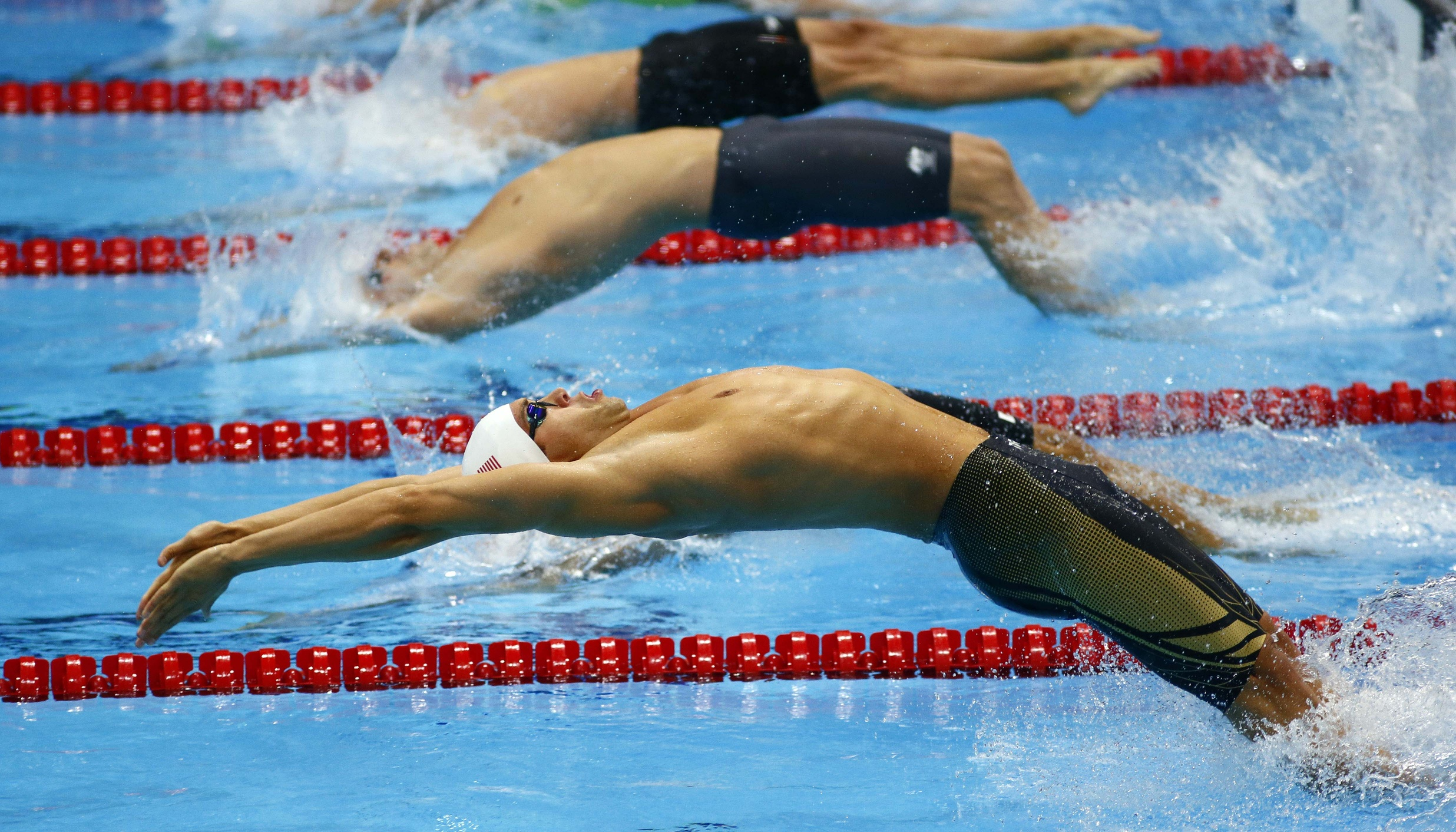 Olympic swimming backstroke