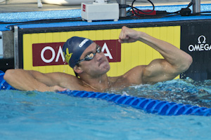 U S Long Course Nationals Nathan Adrian Wins 50 Free Josh Schneider Ties For Second Under
