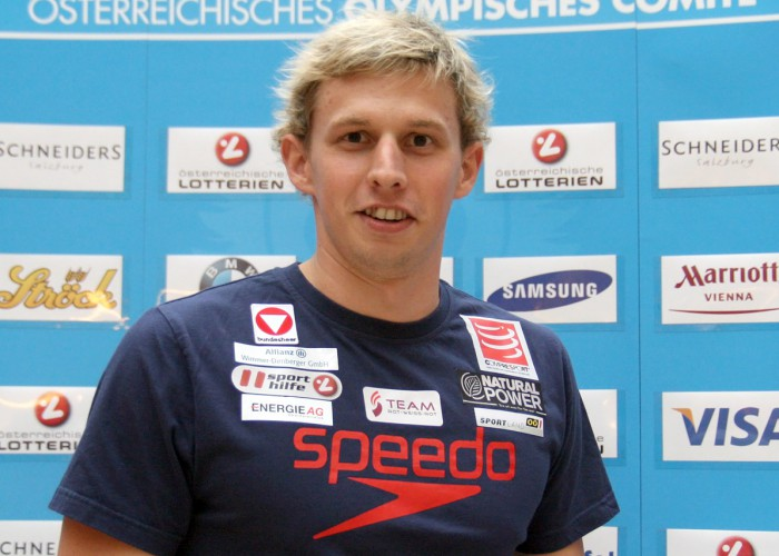David Brandl at the hand-out of the Austrian teams official attire for the Summer Olympics 2012 in London