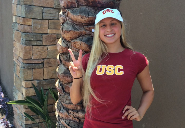 Delaware 39 S Top Recruit Lily Dubroff Commits To Southern California Swimming World News