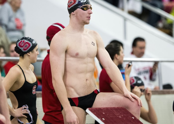 Villanova and N.C. State swim teams met in a dual on Friday, January 10, 2014 at N.C. State in Raleigh, N.C.