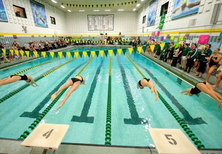 Vermont swimmers lower pool record edge new hampshire for University of york swimming pool