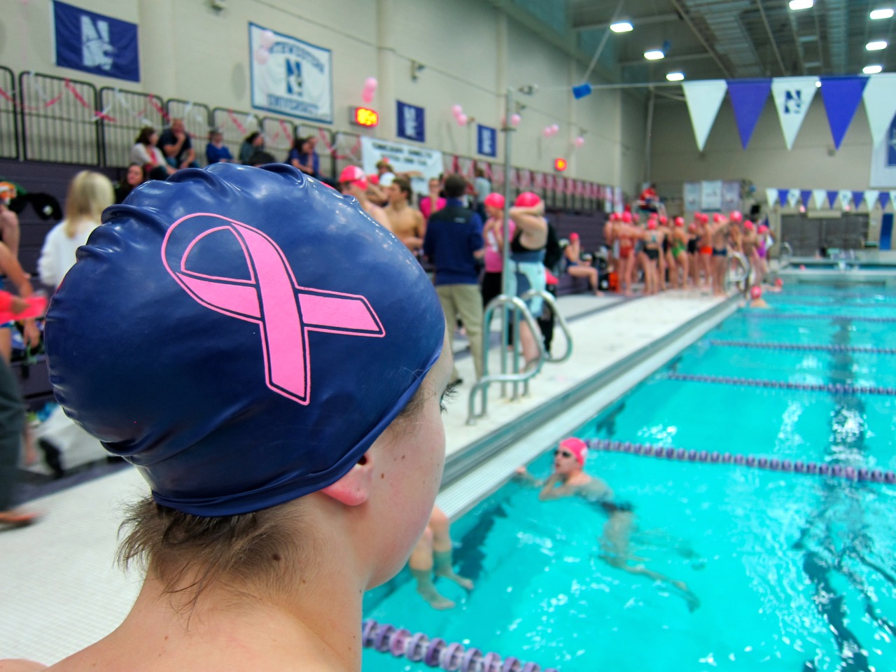 Northwestern Swimming Raises Nearly 25 000 For Breast Cancer Research