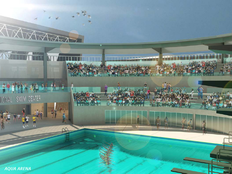 Artist Rendition Of Proposed Ishof Santa Clara Swim Center