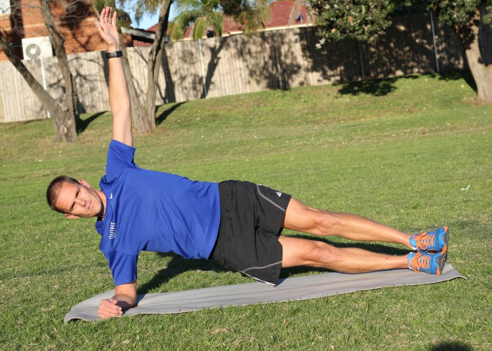 Side plank for swimming
