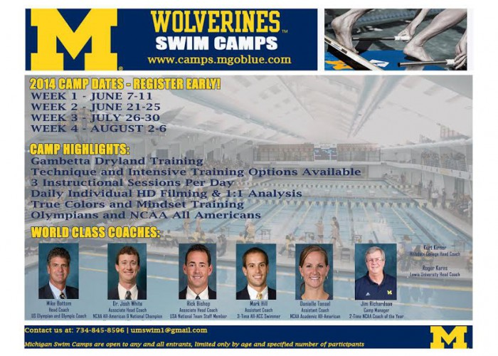 Michigan Swim Camp ad