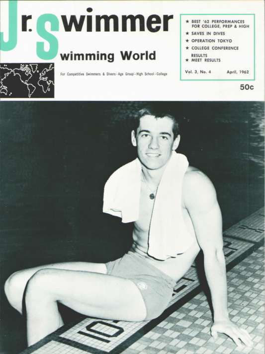 Swimming World Magazine April 1962 Issue- PDF ONLY - Cover