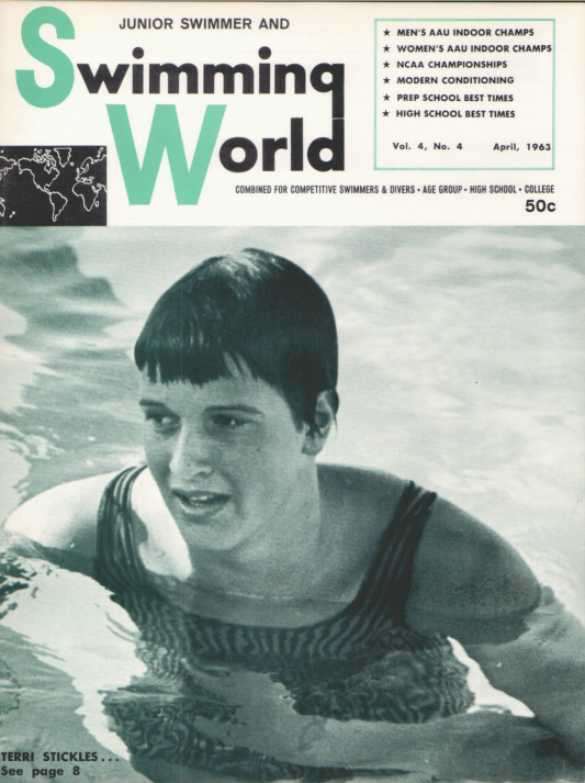 Swimming World Magazine April 1963 Issue- PDF ONLY - Cover