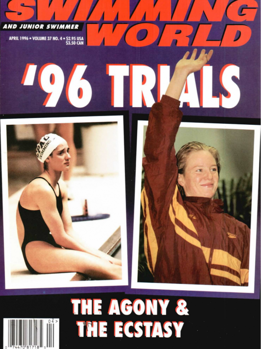 Swimming World Magazine April 1996 Issue- PDF ONLY - Cover