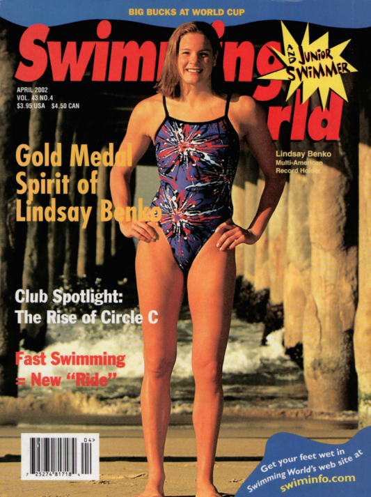 Swimming World Magazine April 2002 Issue- PDF ONLY - Cover