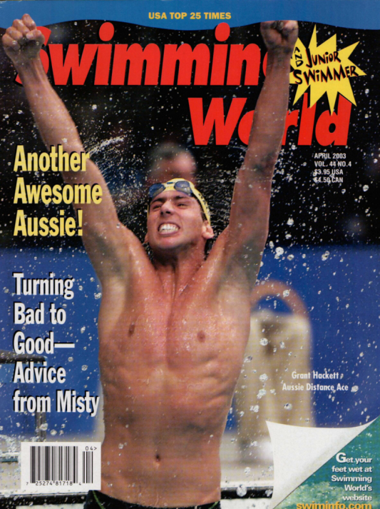 Swimming World Magazine April 2003 Issue- PDF ONLY - Cover