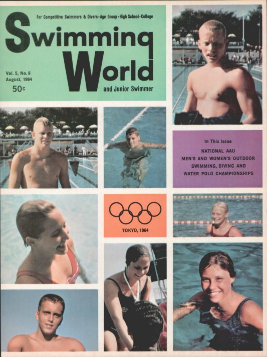 Swimming World Magazine August 1964 Issue- PDF ONLY - Cover