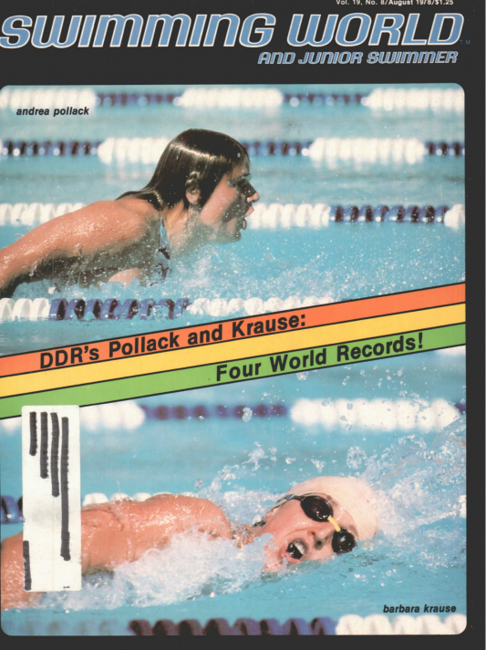 Swimming World Magazine August 1978 Issue- PDF ONLY - Cover