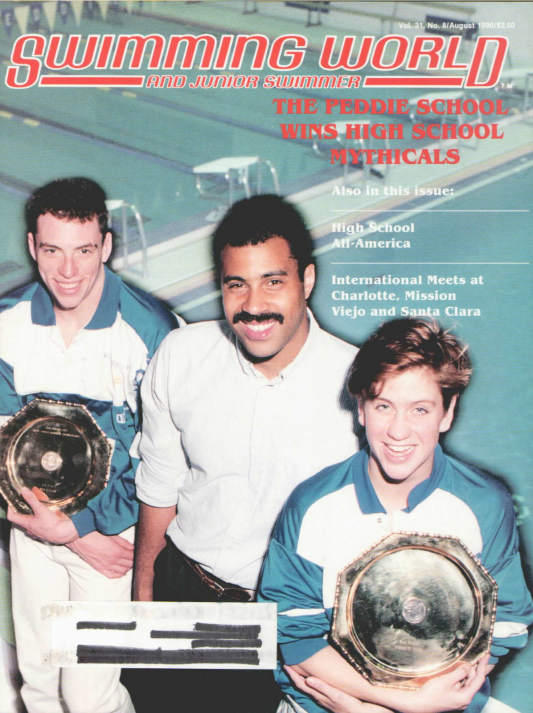 Swimming World Magazine August 1990 Issue- PDF ONLY - Cover