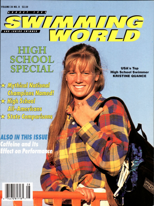 Swimming World Magazine August 1993 Issue- PDF ONLY - Cover