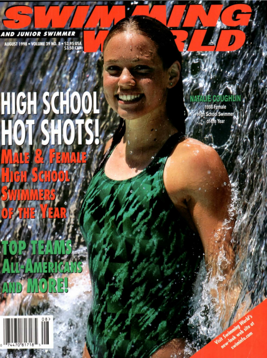 Swimming World Magazine August 1998 Issue- PDF ONLY - Cover