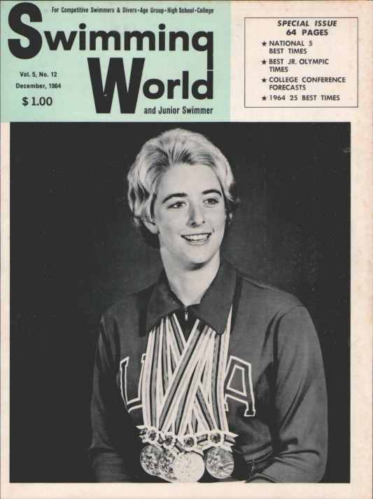 Swimming World Magazine December 1964 Issue- PDF ONLY - Cover