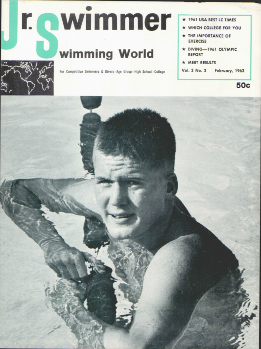 Swimming World Magazine February 1962 Issue- PDF ONLY - Cover