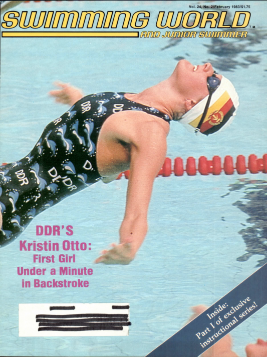 Swimming World Magazine February 1983 Issue- PDF ONLY - Cover
