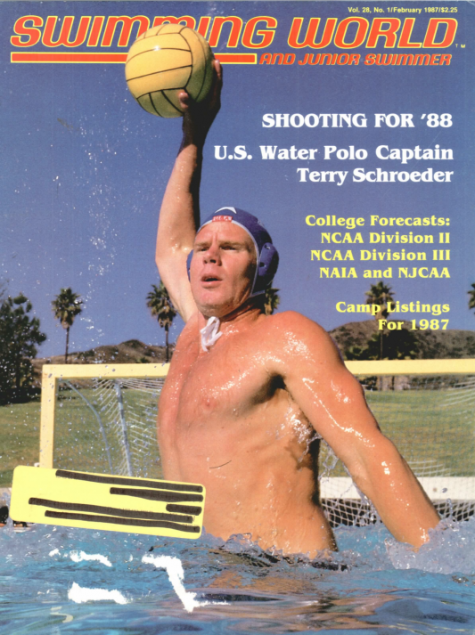 Swimming World Magazine February 1987 Issue- PDF ONLY - Cover