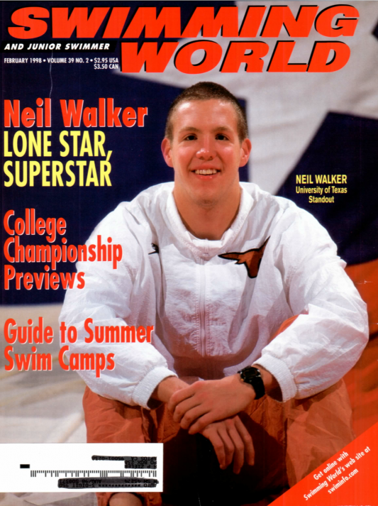 Swimming World Magazine February 1998 Issue- PDF ONLY - Cover