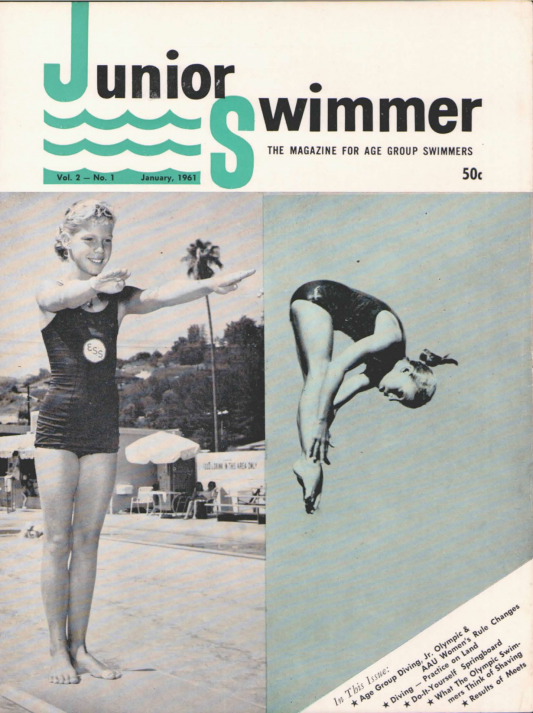 Swimming World Magazine January 1961 Issue- PDF ONLY - Cover