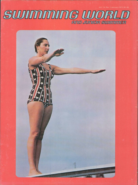 Swimming World Magazine January 1973 Issue- PDF ONLY - Cover