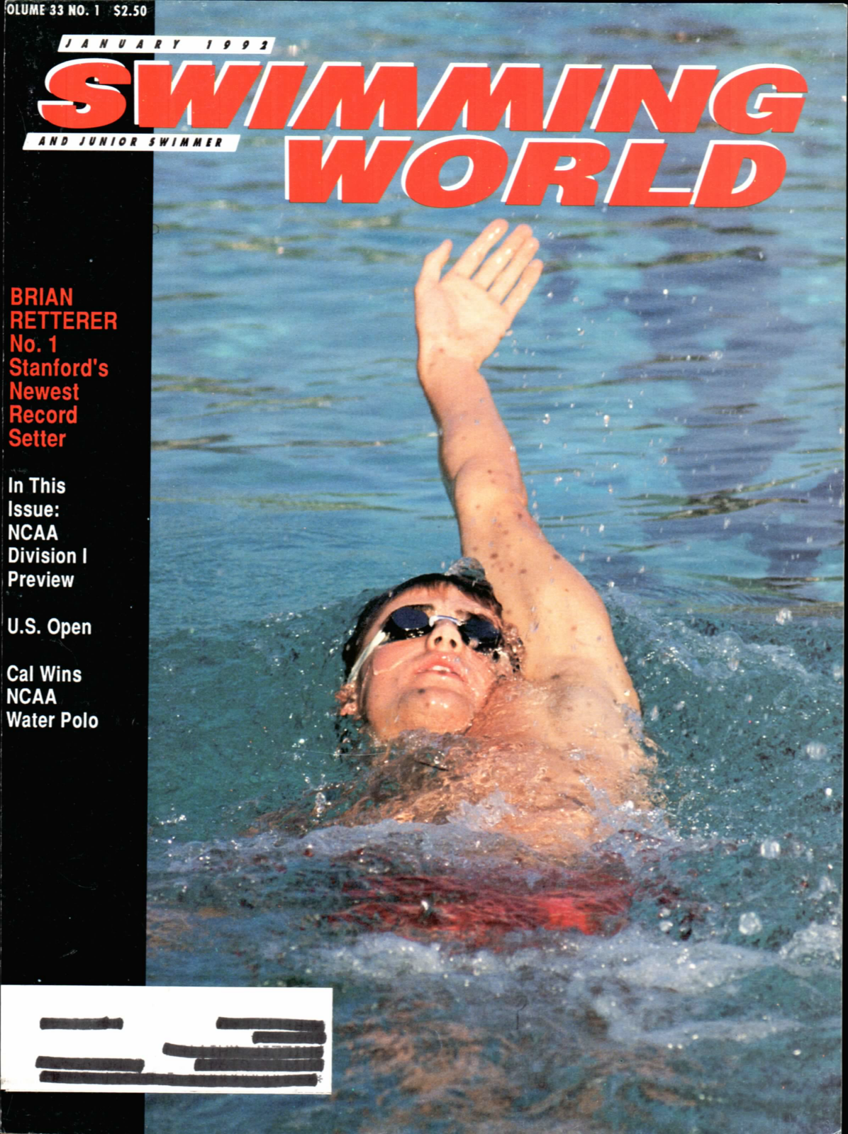 Swimming World Magazine January 1992 Issue- PDF ONLY