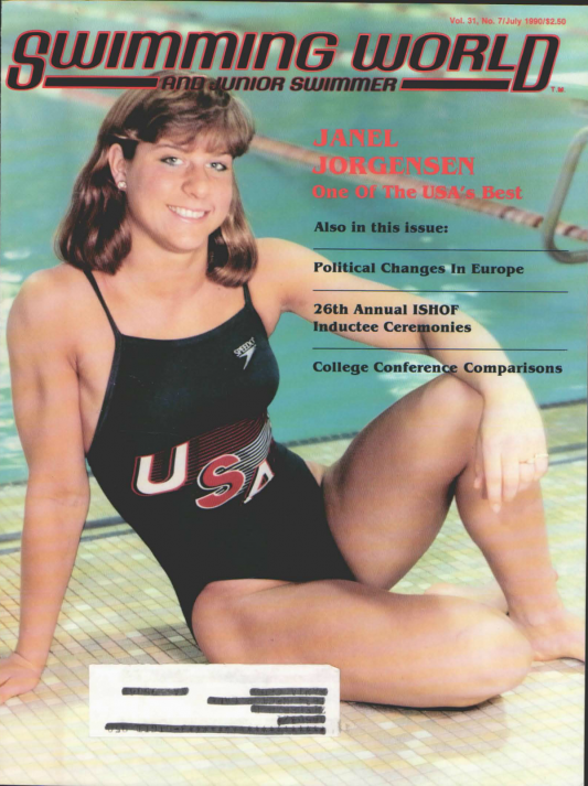 Swimming World Magazine July 1990 Issue- PDF ONLY - Cover