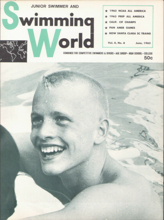 Swimming World Magazine June 1963 Issue- PDF ONLY - Cover