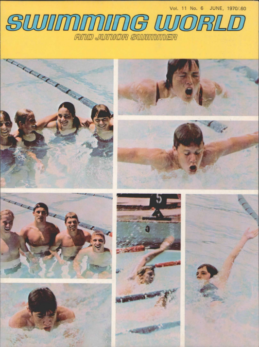 Swimming World Magazine June 1970 Issue- PDF ONLY - Cover