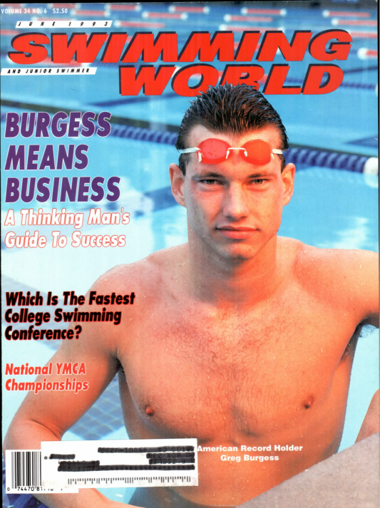 Swimming World Magazine June 1993 Issue- PDF ONLY - Cover