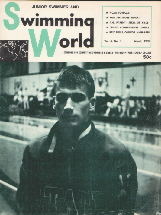 Swimming World Magazine March 1963 Issue- PDF ONLY - Cover