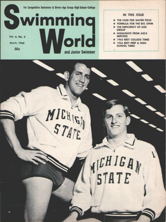 Swimming World Magazine March 1965 Issue- PDF ONLY - Cover