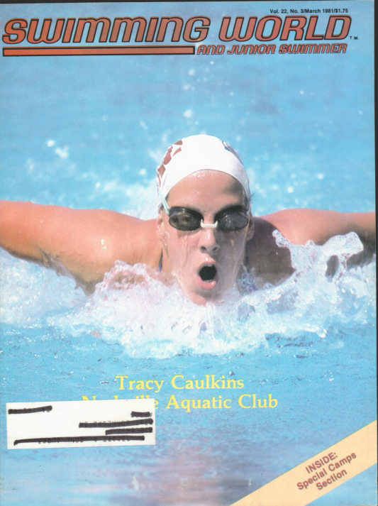 Swimming World Magazine March 1981 Issue- PDF ONLY - Cover